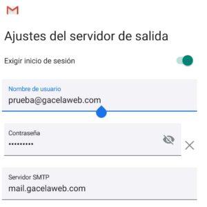 Android Configurar Correo