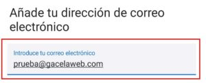 Android Cuenta Correo