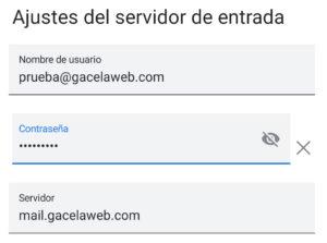 Android Cuenta Mail Configuracion