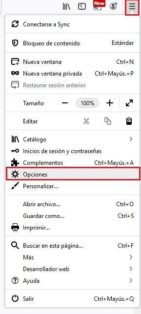 Borrar Cache Firefox