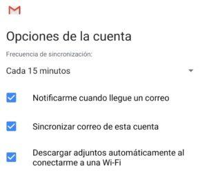 Configuracion Correo para Android
