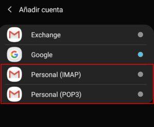 Configuracion Email Movil