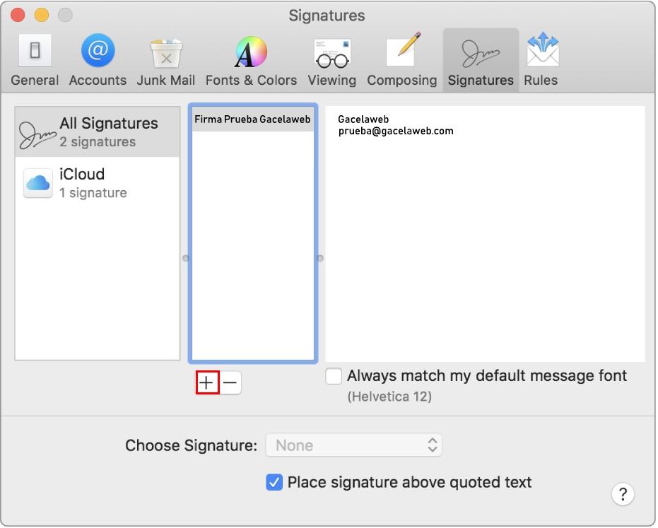 Configurar Firma Mail
