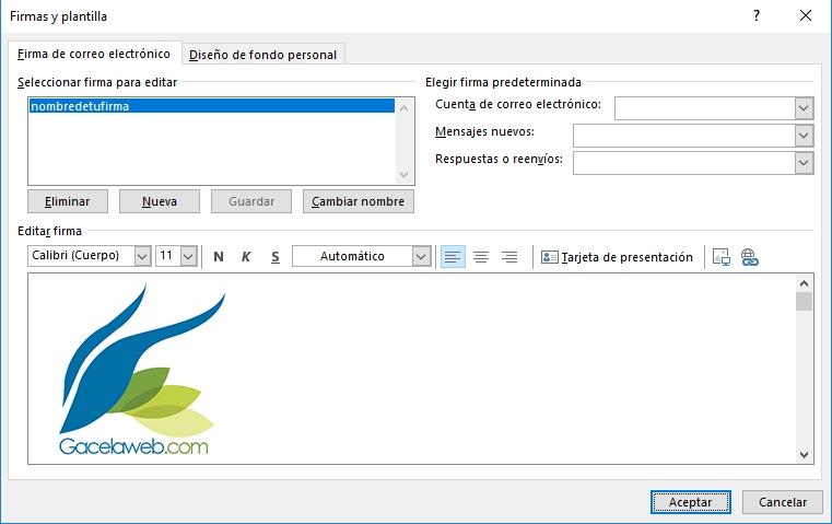 Diseño Firma Outlook