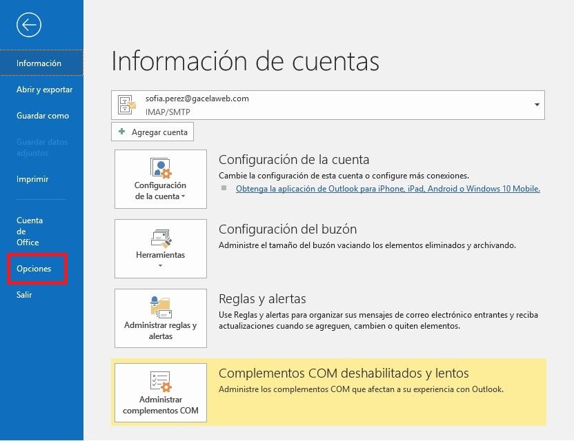 Firma HTML en Outlook