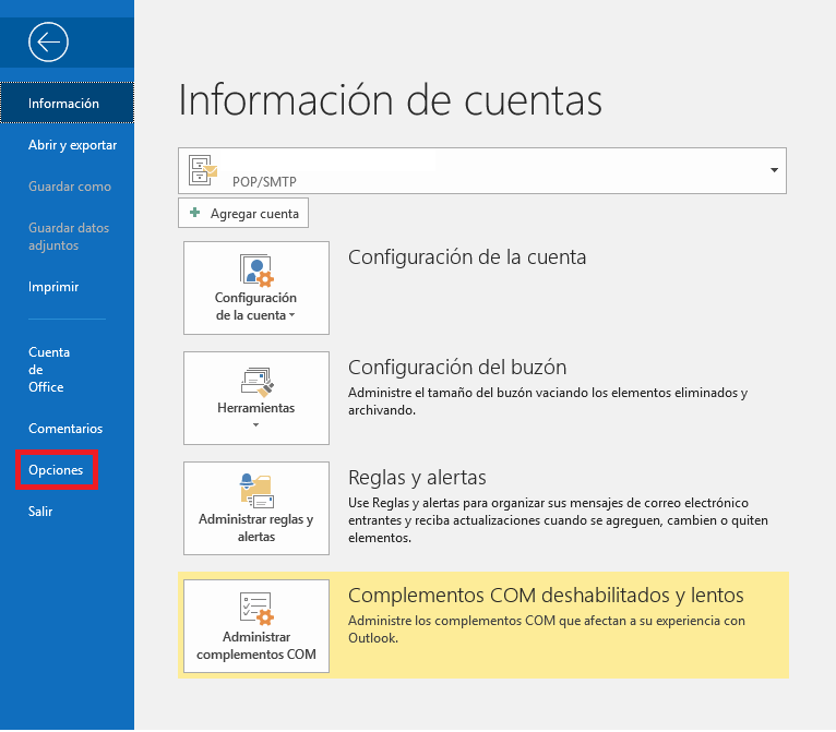Firma Texto Outlook