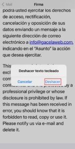 firma html mail iphone